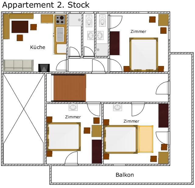 Alpenhof - Plan Appartement 2. Stock